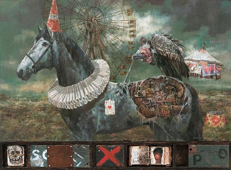 SUHAIDI RAZI (b. 1977) PORTRAIT OF A FOOL, 2015, Mixed media
