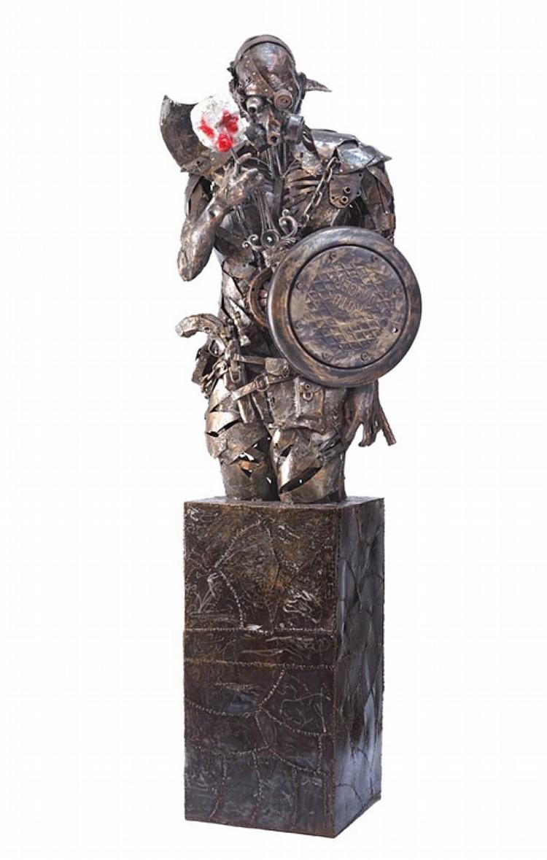 SUHAIDI RAZI (b. 1977) GUARD, 2012, Metal and fiber