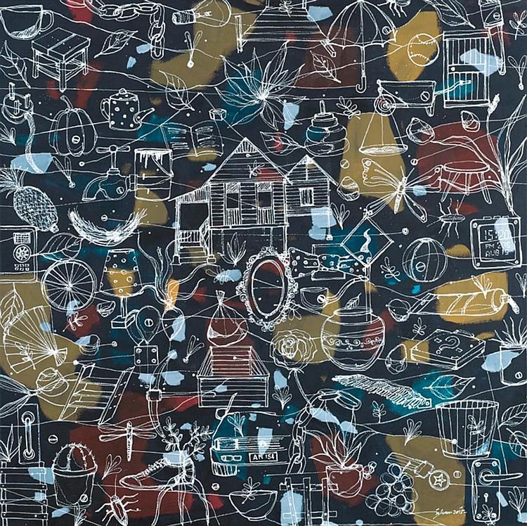 MOHD KHAIRUL IZHAM (b. 1985) HOME, 2015, Acrylic on canvas