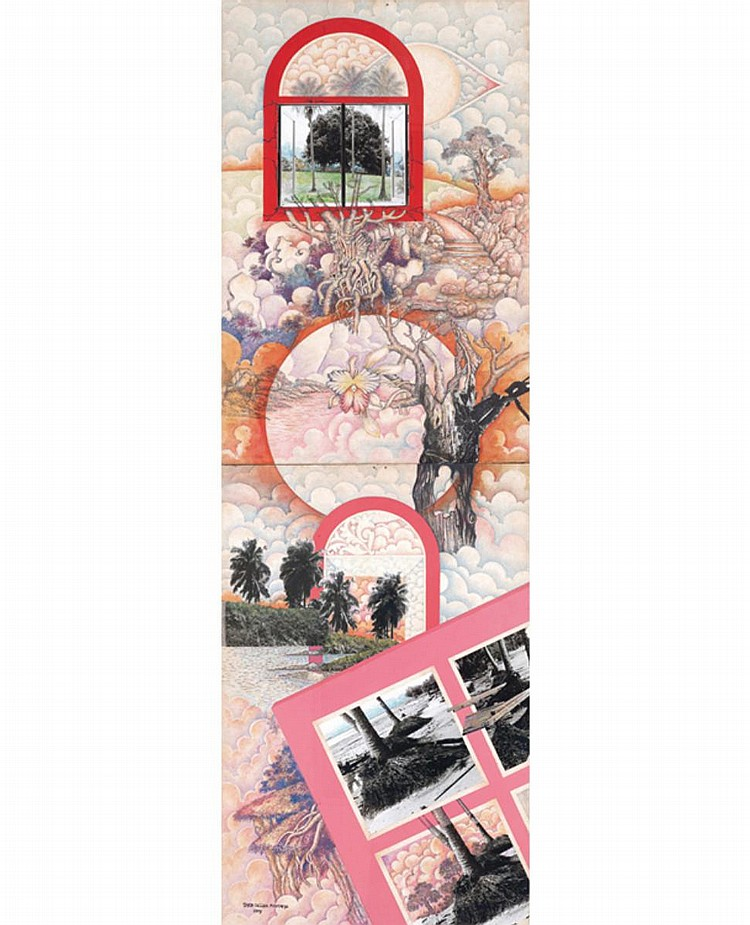 SYED SALLEH MUSTAFFA (b. 1945) UNTITLED, 1995, Mixed media on cardboard
