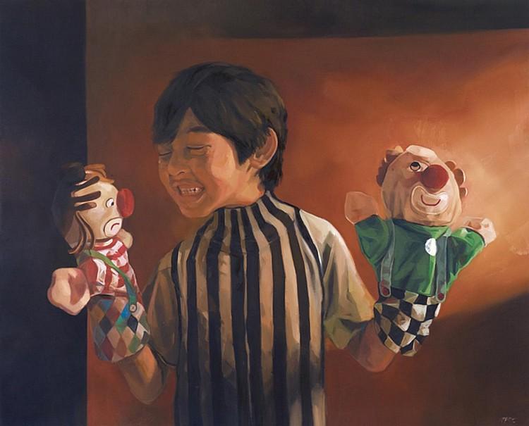 ALI NURAZMAL YUSOFF (b. 1978) MASTERMIND, 2012, Oil on canvas