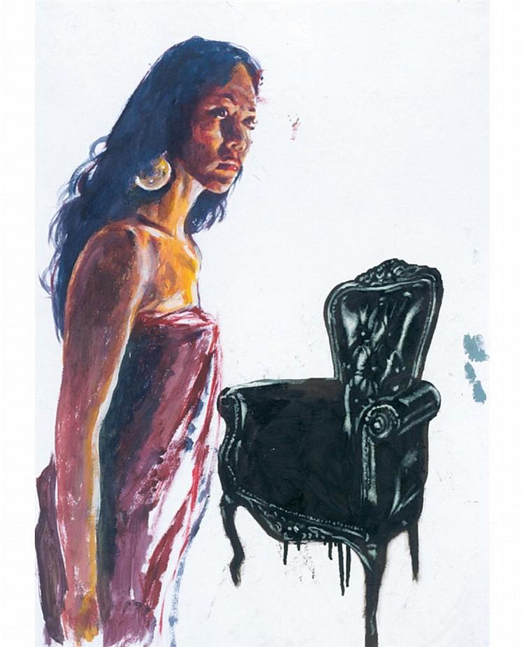 JALAINI ABU HASSAN (b. 1963) UNTITLED, 2012, Acrylic on paper