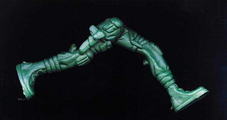 ANGKI PURBANDONO (b. 1971) HE BRINGS A PLASTIC GUN, 2009, Print on transparency paper