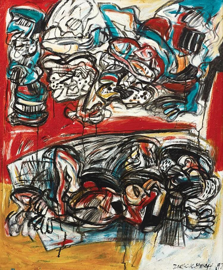 ZULKIFLI YUSOFF (b. 1962) THE STRUGGLE, 1997, Oil on canvas