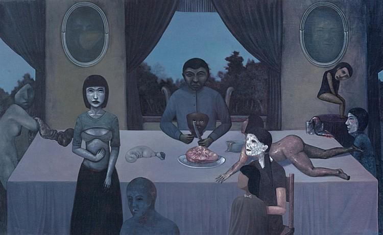 GAN TEE SHENG (b. 1984) HEAD OF FAMILY, 2011, Oil on canvas