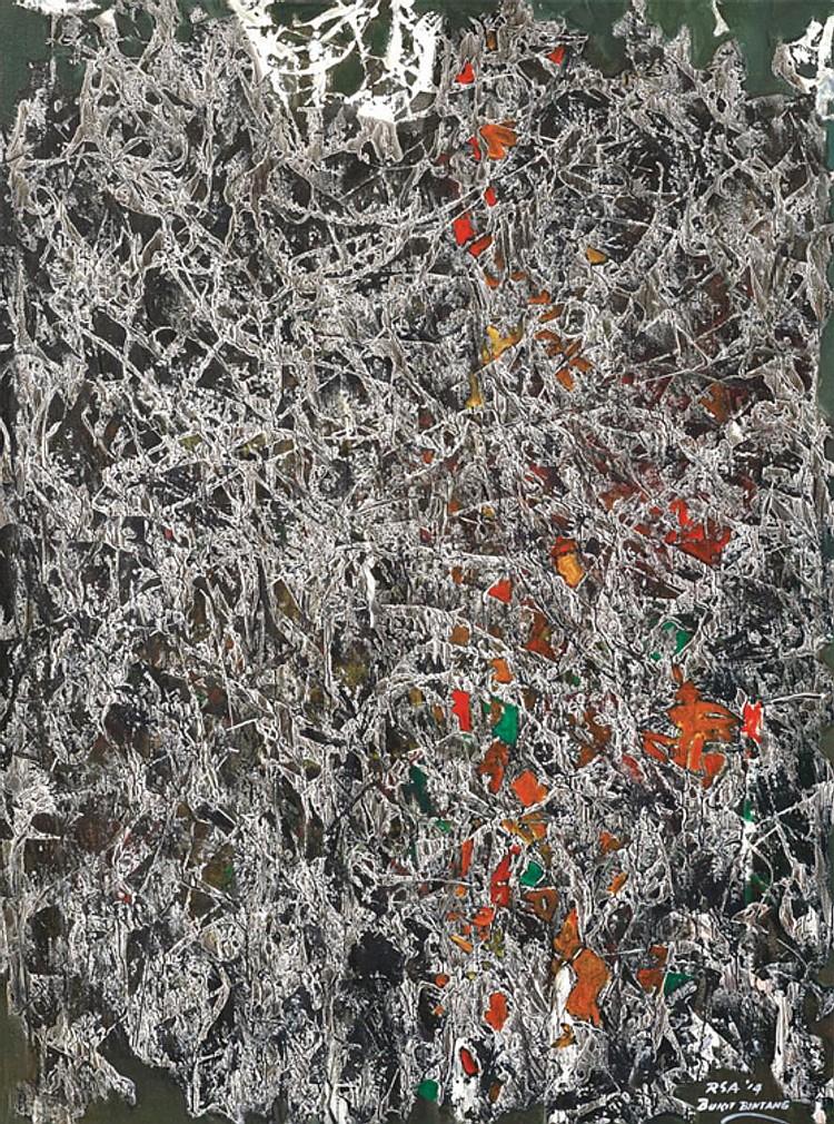 RAPHAEL SCOTT AHBENG (b. 1939) BUKIT BINTANG, 2014, Acrylic on canvas