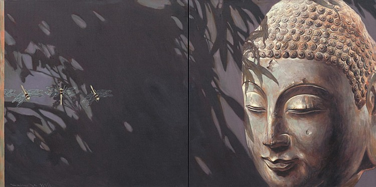 LIM AH CHENG (b. 1968) LIGHT OF LIFE (BETWEEN IGNORANCE AND ENLIGHTENMENT 3), 2002, Oil on canvas