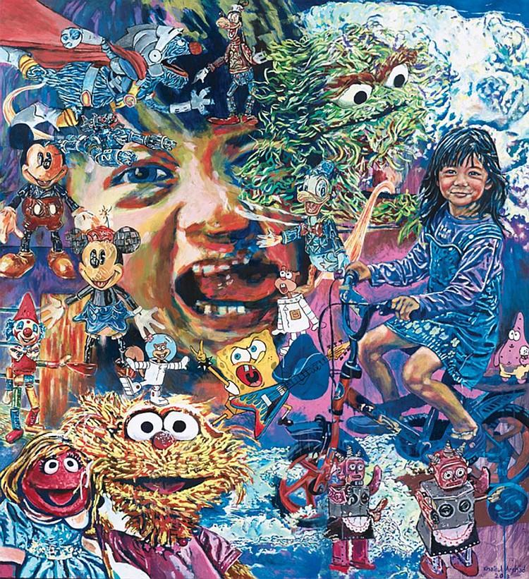 KHAIRUL ARSHAD (b. 1978) NOT ENOUGH HAPPY HUH??, 2013, Acrylic on canvas
