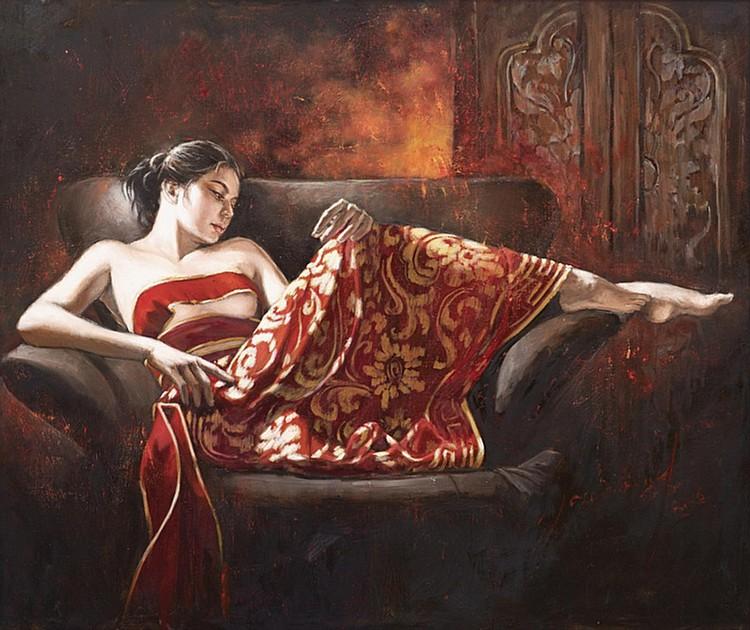 JOSEPHINE LINGGAR (b. 1943) BALINESE GIRL, 2016, Oil on canvas