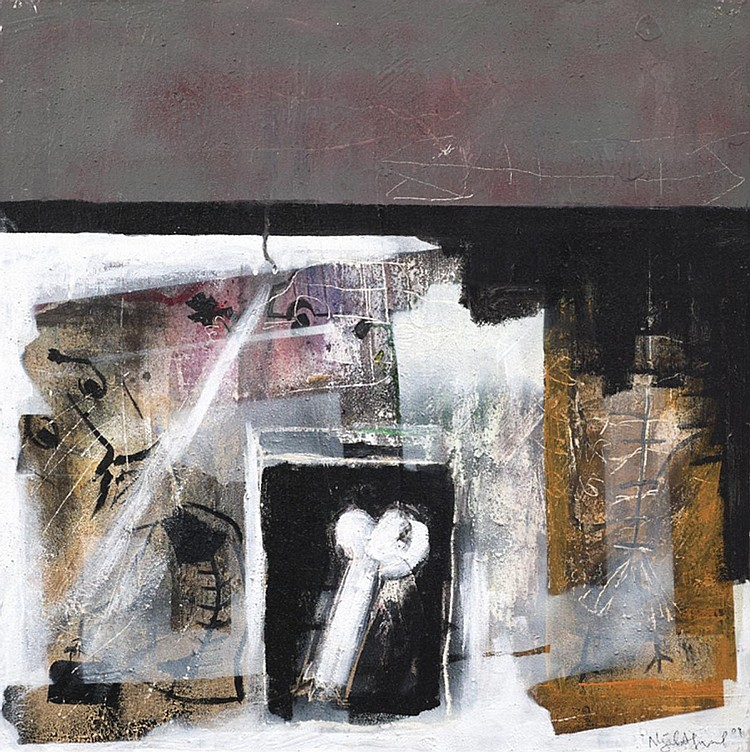 NAJIB AHMAD BAMADHAJ (b. 1987) STUDY OF FIGURE, 2009, Mixed media on canvas