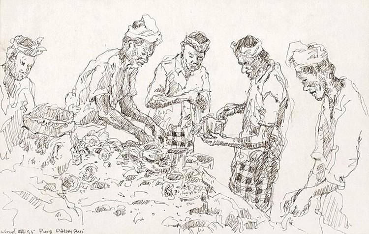 CHANG FEE MING (b. 1959) UNTITLED: PURA DALAM PURI, UBUD, 1995, Ink on paper