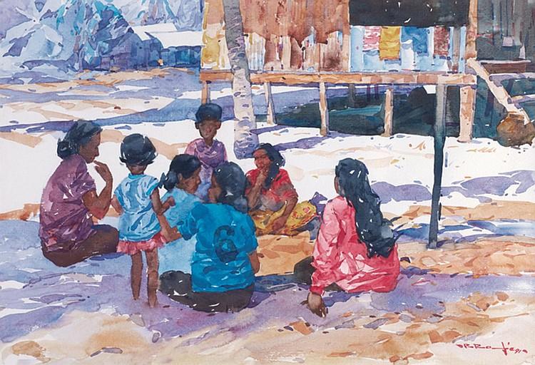 RAFIE ABDUL RAHMAN (b. 1947) PET...POT...PET...POT EAST COAST, 1991, Watercolour on paper