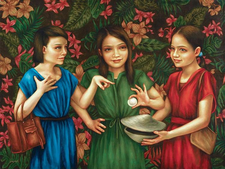 SIUND TAN (b. 1981) MING'S INSTINCT, 2014, Oil on canvas