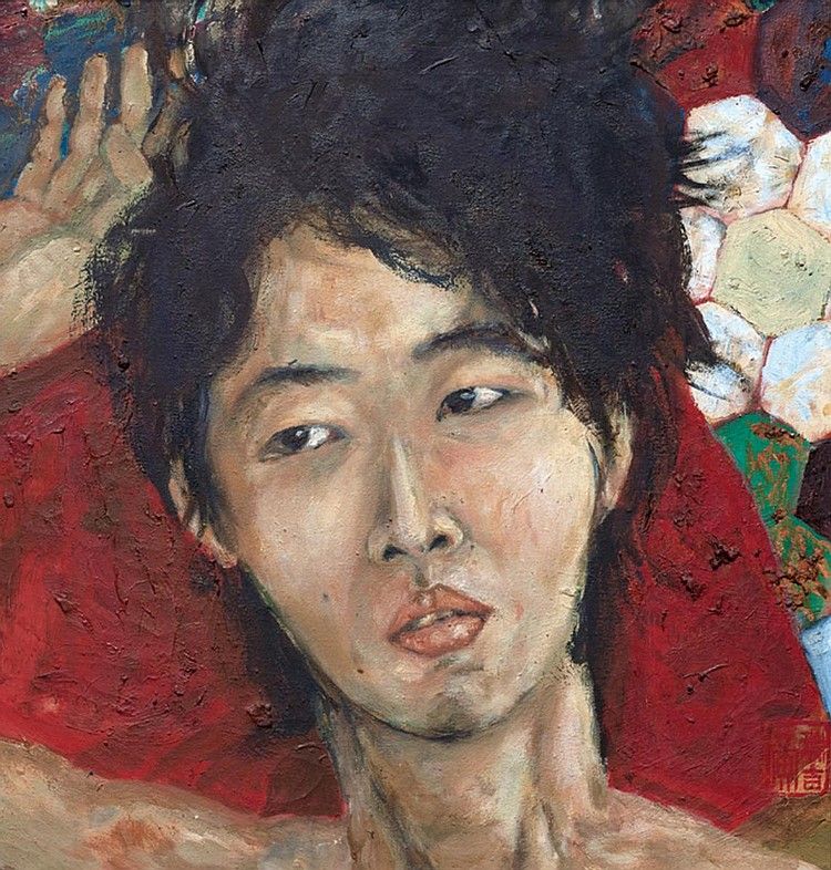 NG SWEE KEAT (b. 1979) SELF PORTRAIT, 2003, Oil on canvas