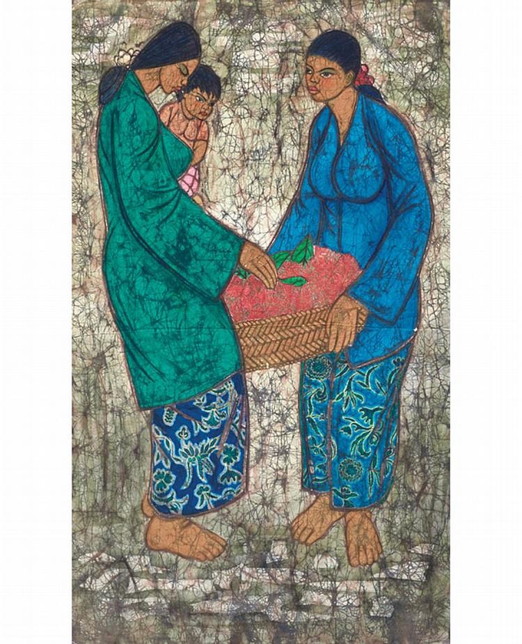 CHUAH THEAN TENG, DATO' (b. 1912 - d. 2008) UNTITLED, undated, Batik