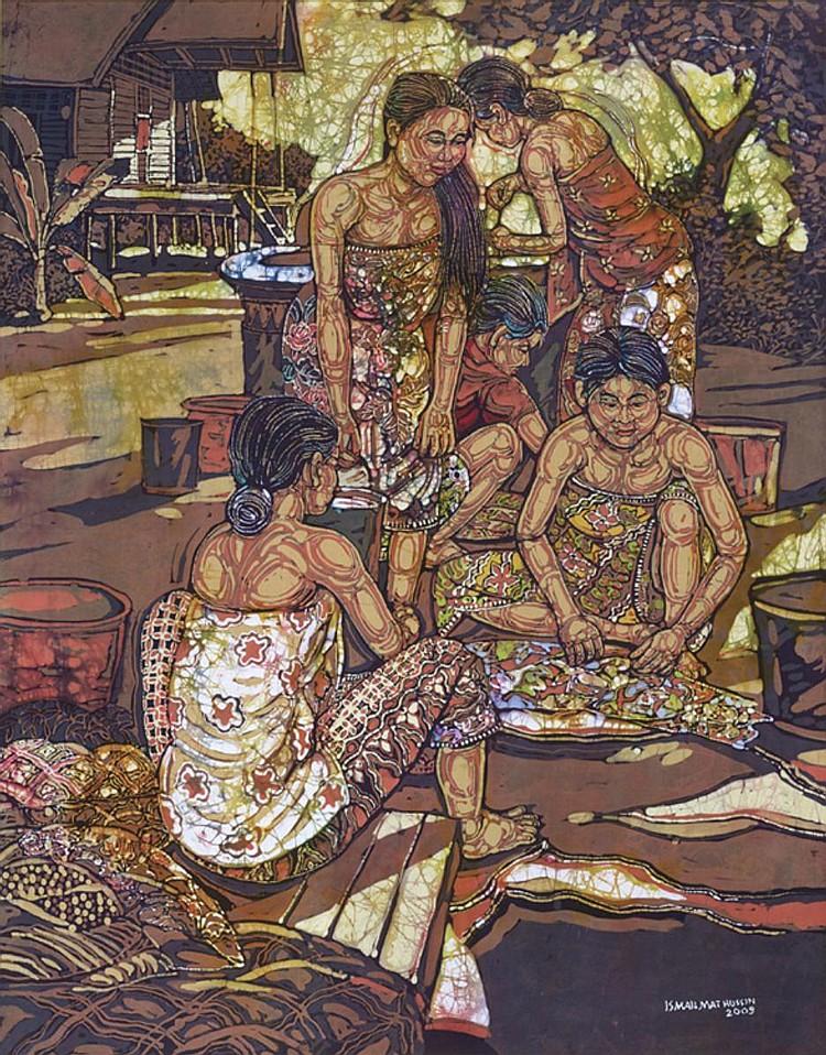 ISMAIL MAT HUSSIN (b. 1938 - d. 2015) UNTITLED, 2009, Batik