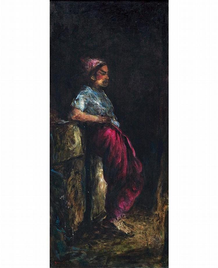 ZHENG YUANDE (b. 1960) OPERA (CORRIDOR), 1998, Oil on canvas