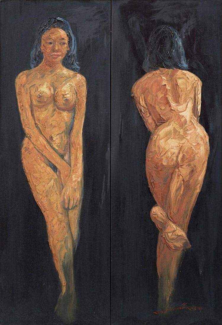 BAHARUDDIN MAT YUNOS NUDE, 2001, Acrylic on canvas
