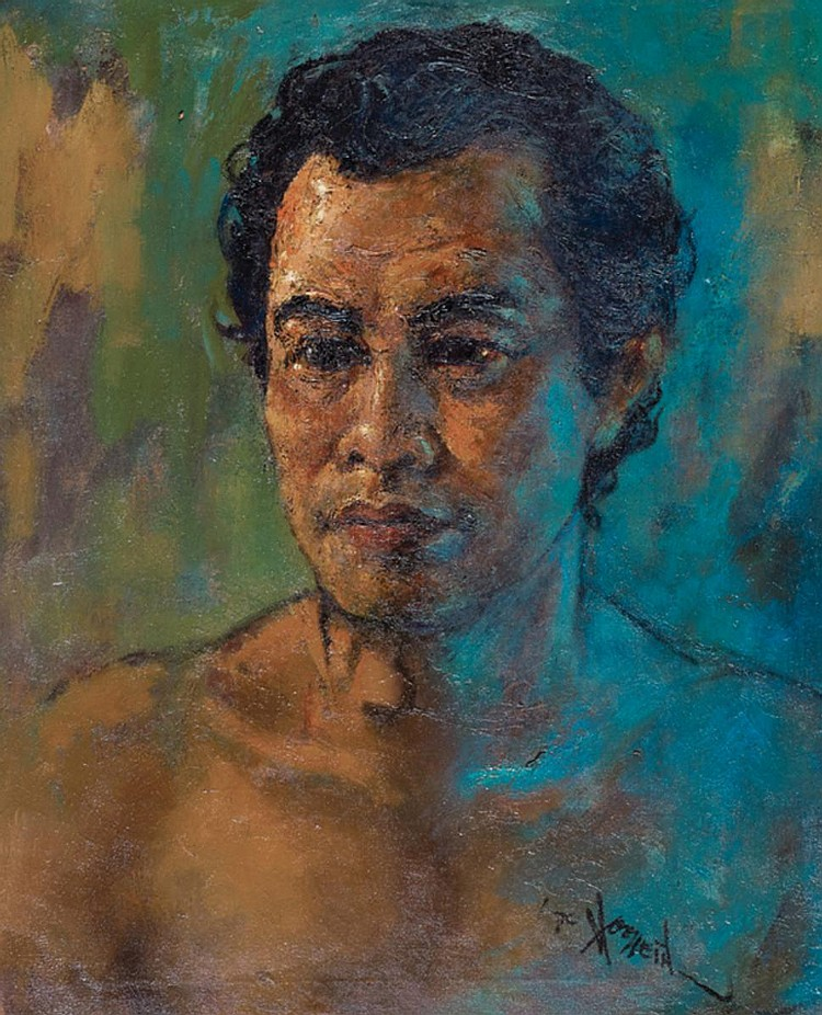 MOHD HOESSEIN ENAS, DATO' (b. 1924 - d. 1995) SELF PORTRAIT, 1970, Oil on canvas