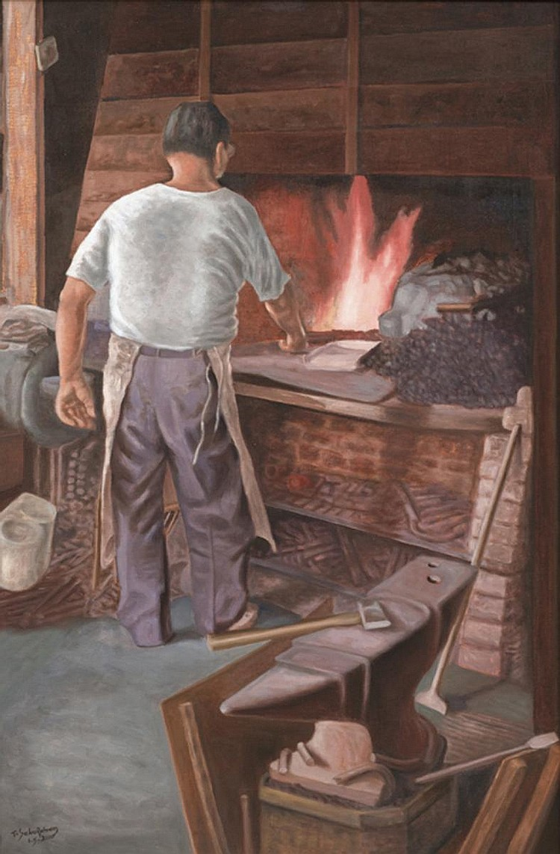 T. SELVARATNAM (b. 1920 - d. 2008) UNTITLED, 2000, Oil on canvas