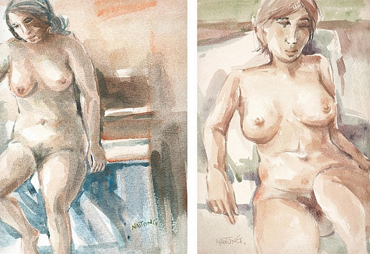 TEW NAI TONG (b. 1936 - d. 2013) NUDE, undated, Watercolour on paper