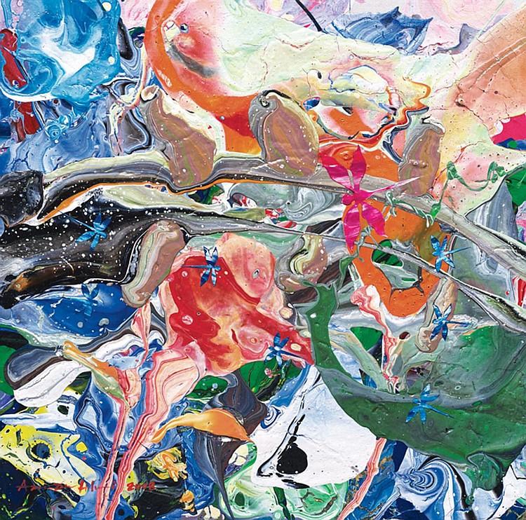 AZMAN HILMI (b. 1968) 8 DRAGONFLIES, 2008, Mixed media on canvas