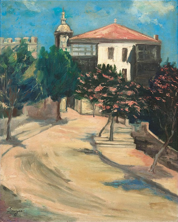 SUN YEE (b. 1919 - d. 2009) MANSION, undated, Oil on canvas laid on board