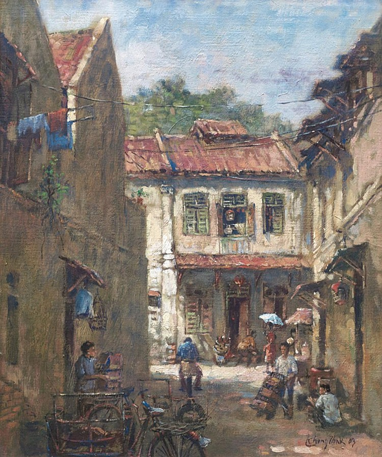 LUI CHENG THAK (b. 1967) LORONG BANDAR, KL, 2003, Oil on canvas