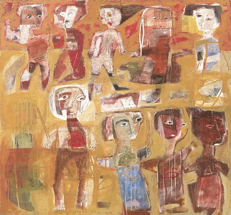 WAYAN SUJA (b. 1975) I AM THE HERO, 2000, Mixed media on canvas