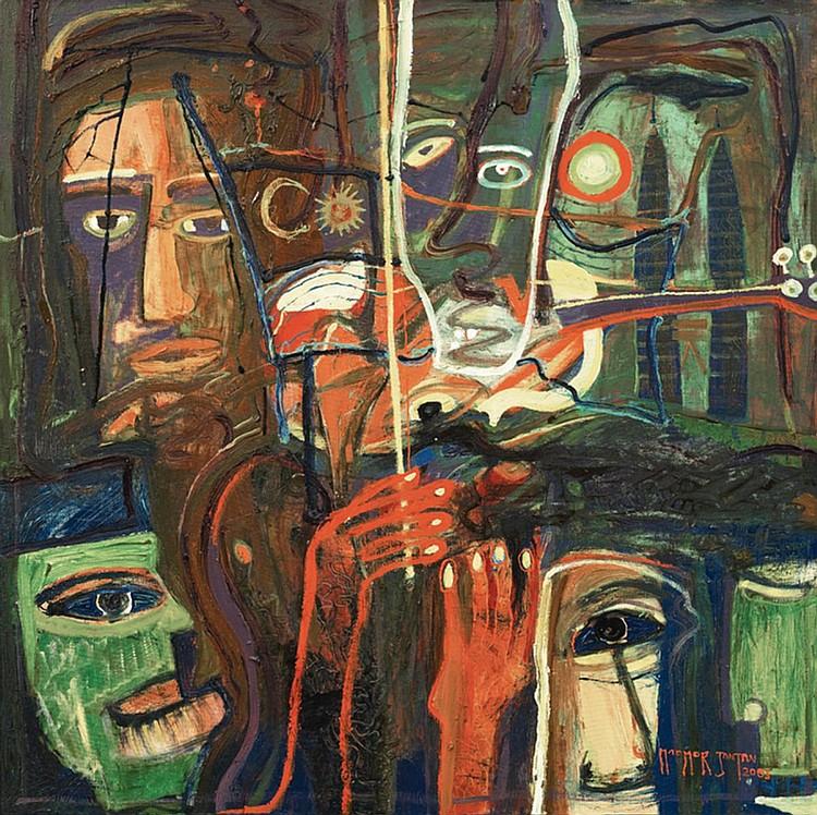 MAAMOR JANTAN (b. 1961) IRAMA MALAYSIA, 2003, Oil on canvas