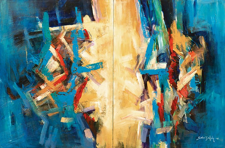 SABRI SALLEH (b. 1966) WHEN NATURE STRIKE II, 2005, Oil on canvas