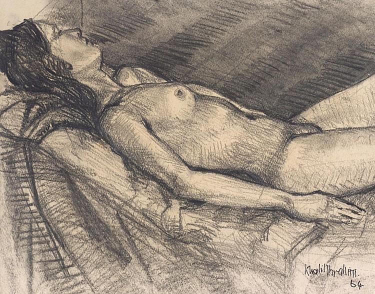 KHALIL IBRAHIM (b. 1934) UNTITLED, 1964, Charcoal on paper