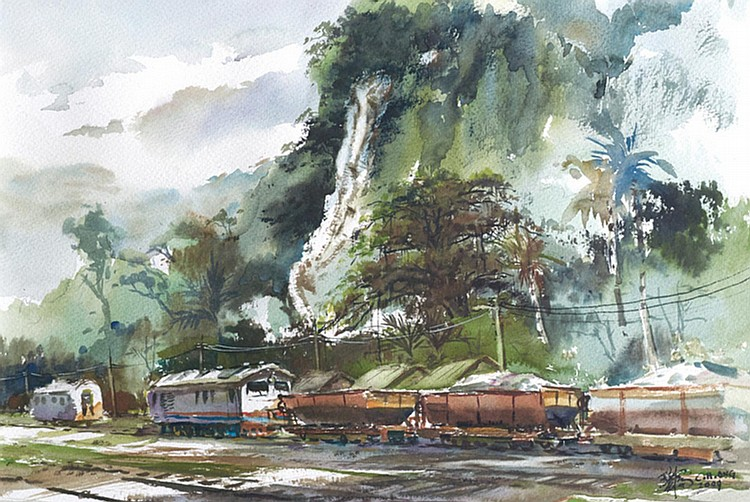 ONG CHOON HOO (b. 1965) LIME-STONE HILLSIDE, 2009, Watercolour on paper