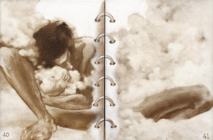 HAMIR SOIB (b. 1969) MID-LIFE CRISIS, 2012-2013, Bitumen on canvas