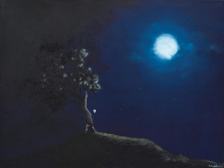 YUSOF MAJID (b. 1970) CLOSER TO THE MOON, 2015, Oil on canvas