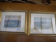 Pair of watercolours by william Widgery,