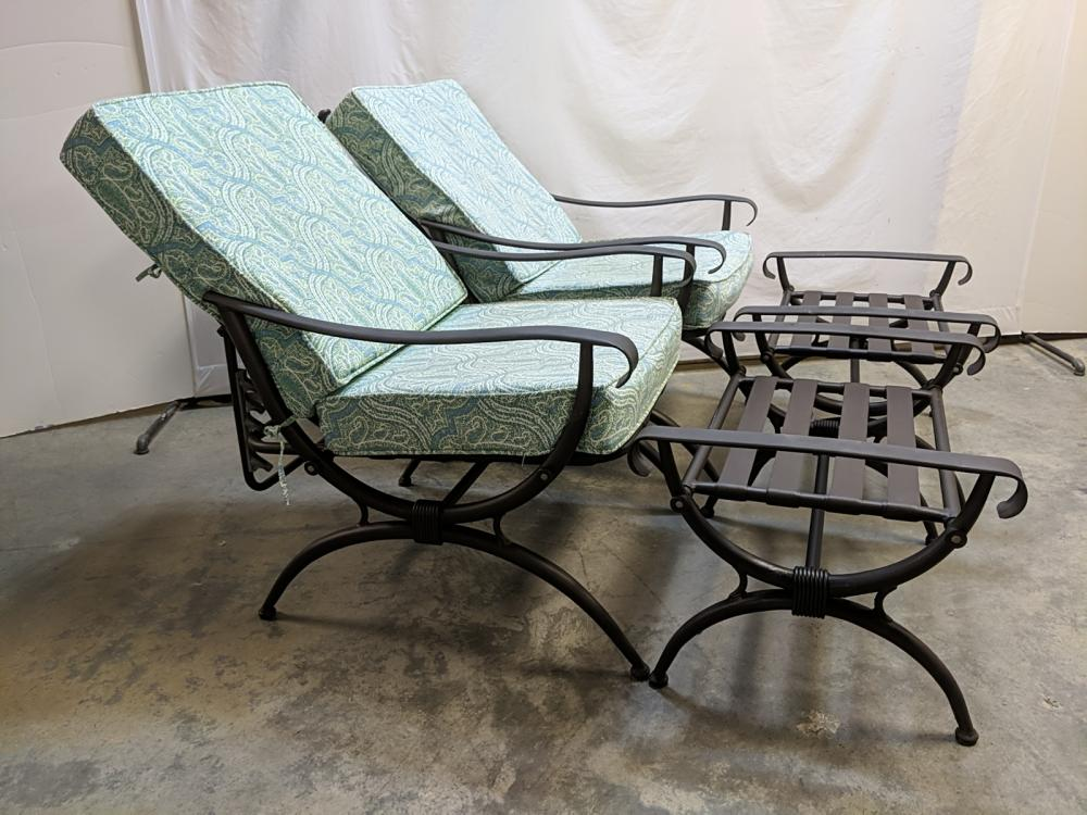 2 Jacqueline Smith Patio loungers and ottomans