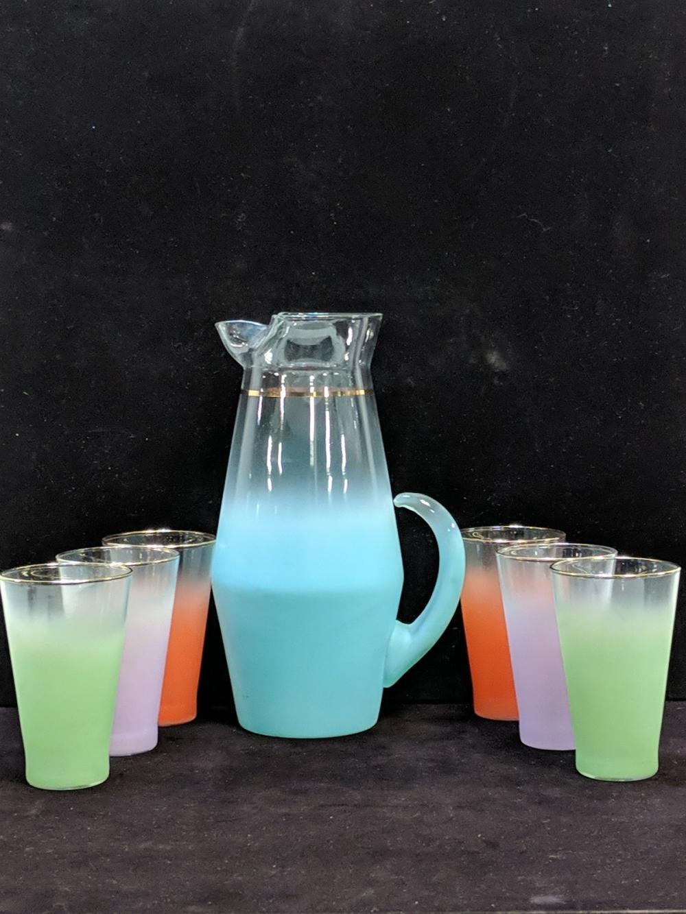 Vintage 7 pc. Blendo Beverage set