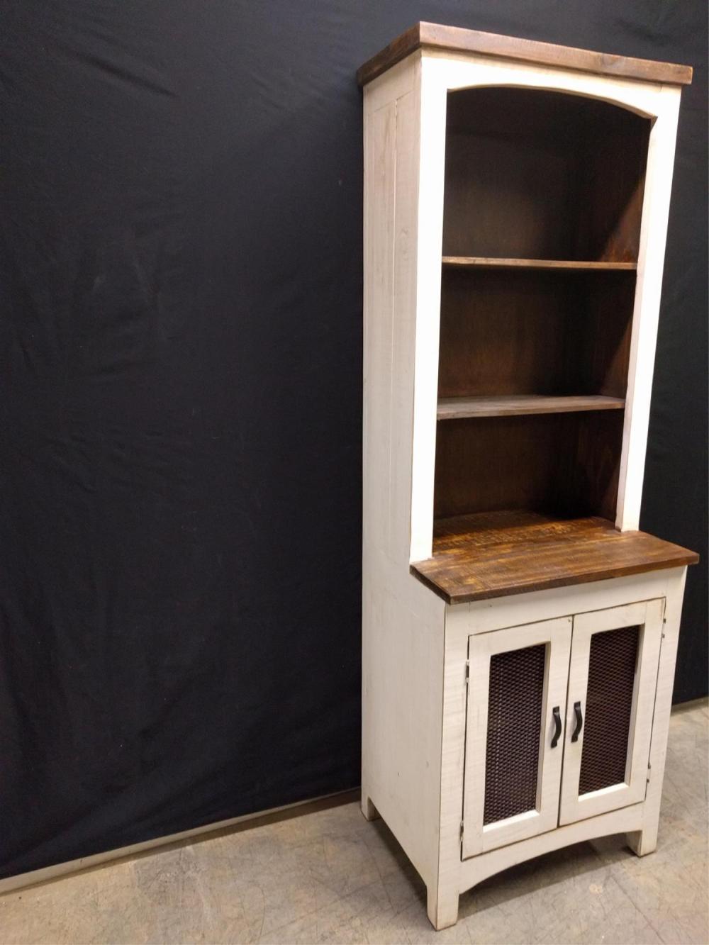 Cream Distressed Bookcase