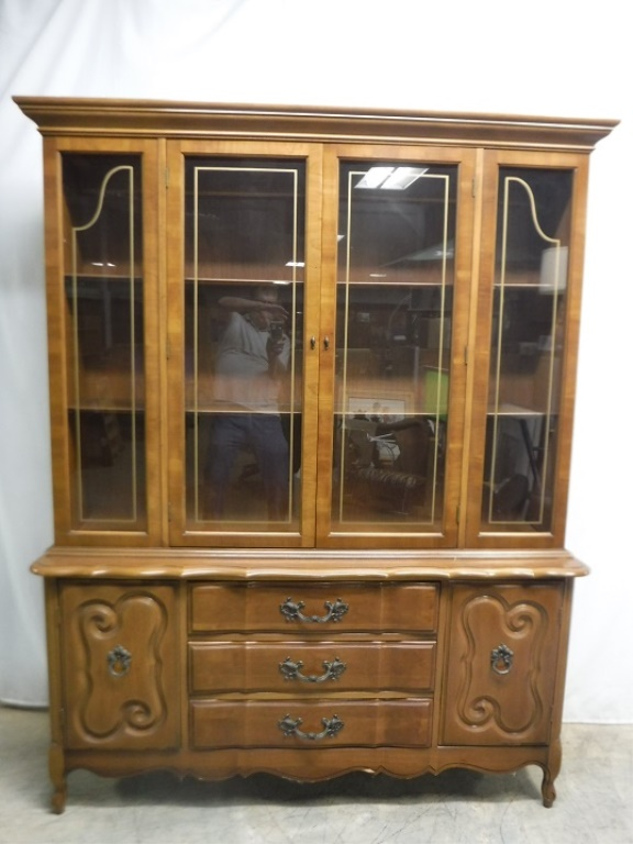 french provincial china cabinet provincial china cabinet 15644
