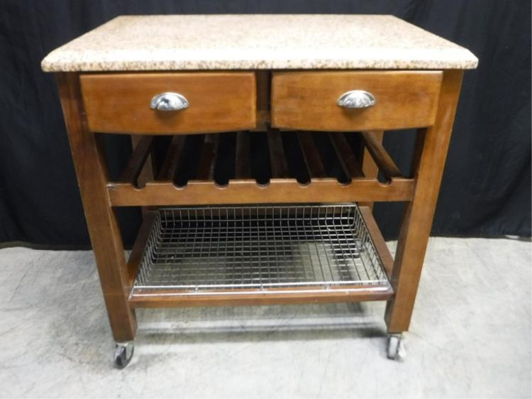 Rolling Kitchen Island With Granite Top