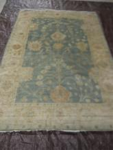 Hand woven rug made in India
