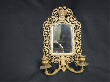 Bevel Mirror & candle sconce