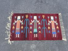 Hand Woven wool Tribal Art Rug