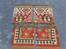 4 small Tribal Art Rugs