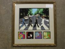 Framed Beatles Collage
