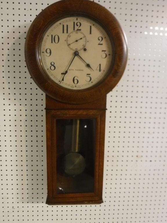 Rare Seth Thomas Weight Driven Wall Clock