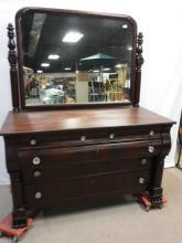 Mahogany Dresser with glass knobs