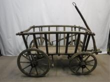 Early wagon with unique breaking system