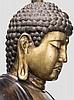 A large bronze figure of Amida, 2nd half of Edo period